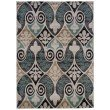 """Linon Milan MN35 Rug 1' 10"""" x 2' 10"""" Black and Turquoise Rectangle"""