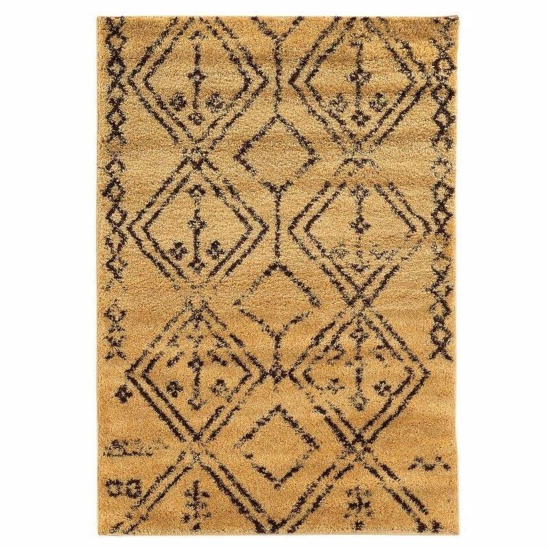 Linon Moroccan Collection MC05 Rug 5' x 7' Camel and Brown Rectangle