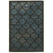 Linon Platinum Collection PM03 Rug 2' x 3' Blue and Grey Rectangle