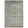 Linon Platinum Collection PM08 Rug 2' x 3' Blue and Black Rectangle