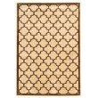 """Linon Platinum Collection PM21 Rug 5' x 7' 6"""" Brown and Cream Rectangle"""