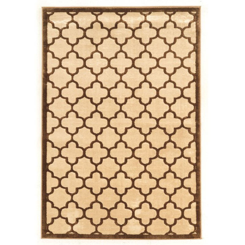 Linon Platinum Collection PM21 Rug 8' x 11' Brown and Cream Rectangle