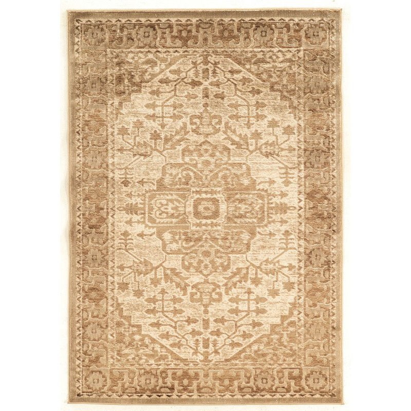 """Linon Platinum Collection PM22 Rug 5' x 7' 6"""" Beige and Cream Rectangle"""