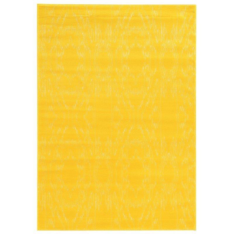"Linon Prisma Collection PA08 Rug 5' 3"" x 7' 6"" Yellow and White Rectangle"
