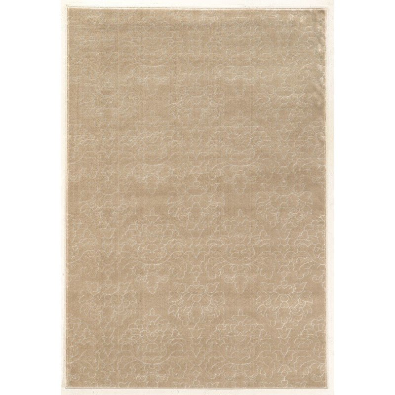 Linon Prisma Collection PA22 Rug 2' x 3' Lt Beige and White Rectangle