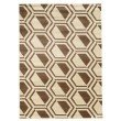 Linon Roma Collection RA04 Rug 2' x 3' Ivory and Beige Rectangle