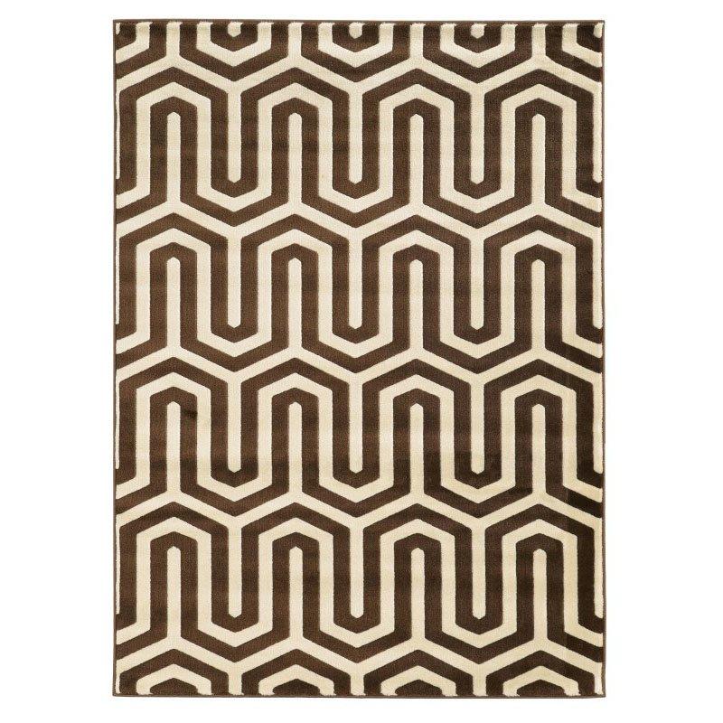 "Linon Roma Collection RA10 Rug 5' 3"" x 7' Ivory and Chocolate Rectangle"