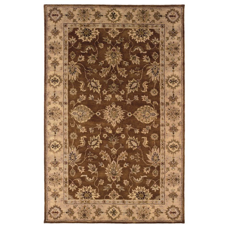 """Linon Rosedown SLSG28 Rug 1' 10"""" x 2' 10"""" Brown and Gold Rectangle"""