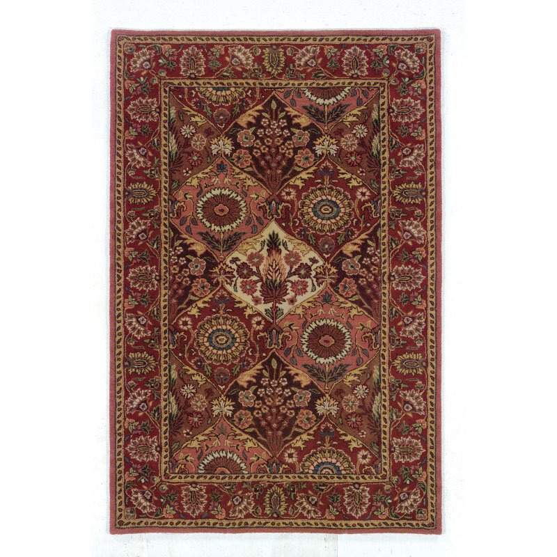 Linon Rosedown SLWW102 Rug 5' x 8' Burgundy and Coral Rectangle