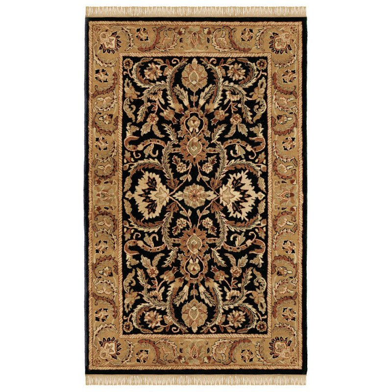 Linon Rosedown SLWW18 Rug 5' x 8' Black and Gold Rectangle
