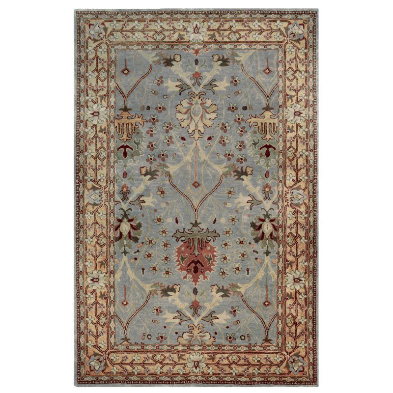 Linon Rosedown SLWW47 Rug 8' x 10' Ice Blue and Beige Rectangle