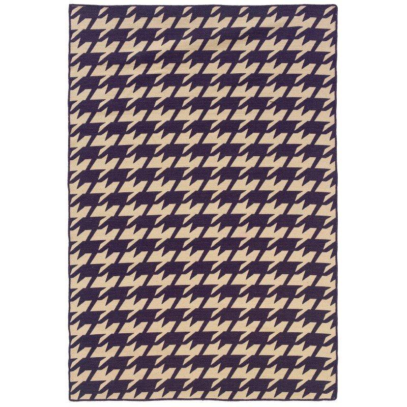 Linon Salonika Collection SA08 Rug 5' x 8' Purple and Natural Rectangle
