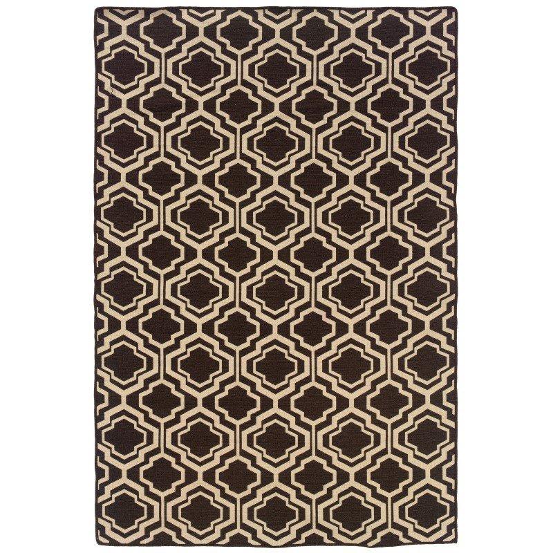 Linon Salonika Collection SA11 Rug 5' x 8' Brown and Natural Rectangle