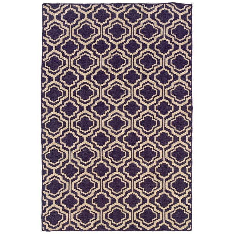 Linon Salonika Collection SA12 Rug 5' x 8' Purple and Natural Rectangle