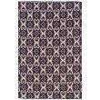 Linon Salonika Collection SA20 Rug 5' x 8' Purple and Natural Rectangle