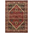 Linon Serape Collection SE02 Rug 3' x 5' Red and Black Rectangle