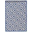 """Linon SILHOUETTE SH07 Rug 1' 10"""" x 2' 10"""" Navy and White Rectangle"""