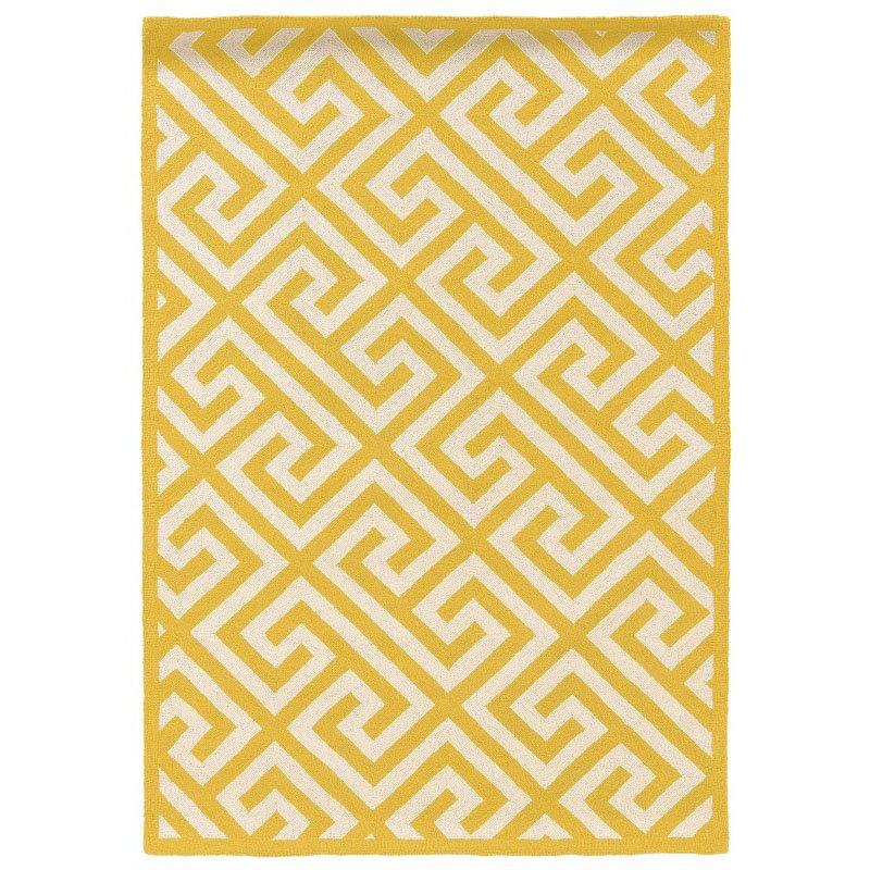 Linon SILHOUETTE SH08 Rug 8' x 10' Yellow and White Rectangle