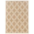 Linon SILHOUETTE SH10 Rug 5' x 7' Beige and White Rectangle