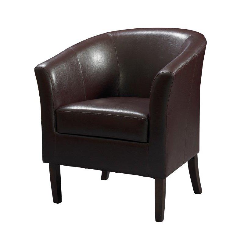 Linon Simon Club Chair Blackberry