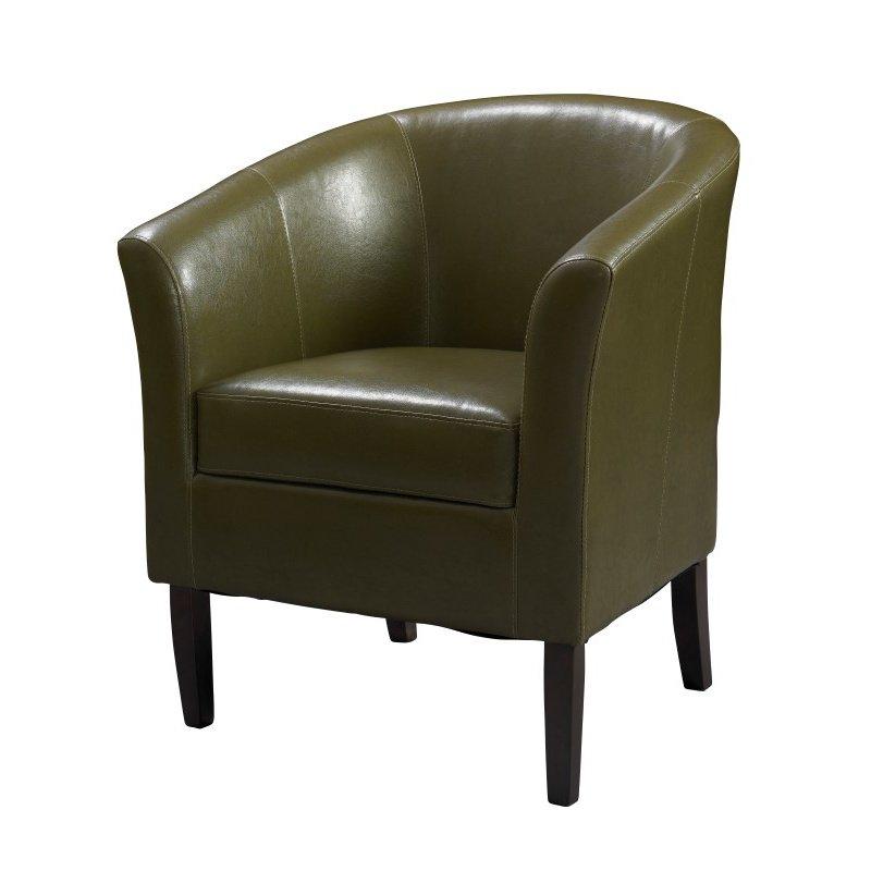 Linon Simon Club Chair Cedar