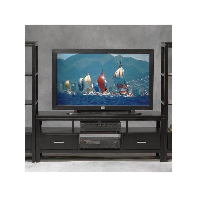 Linon Sutton Black Plasma TV Center