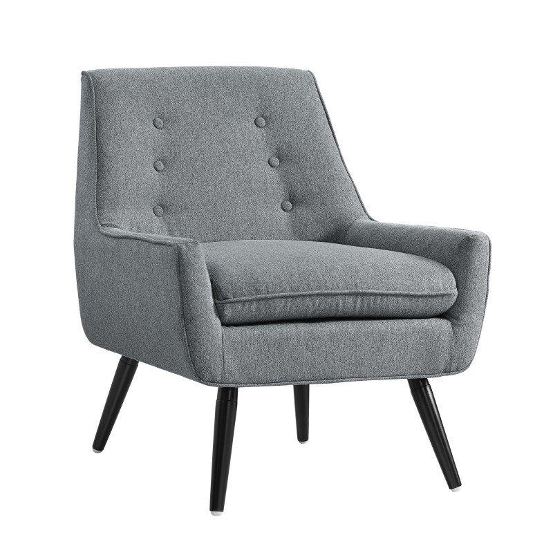 Linon Trelis Chair in Gray Flannel
