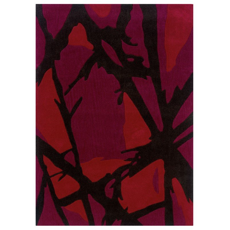 Linon Trio TAD350 Rug 8' x 10' Charcoal and Red Rectangle