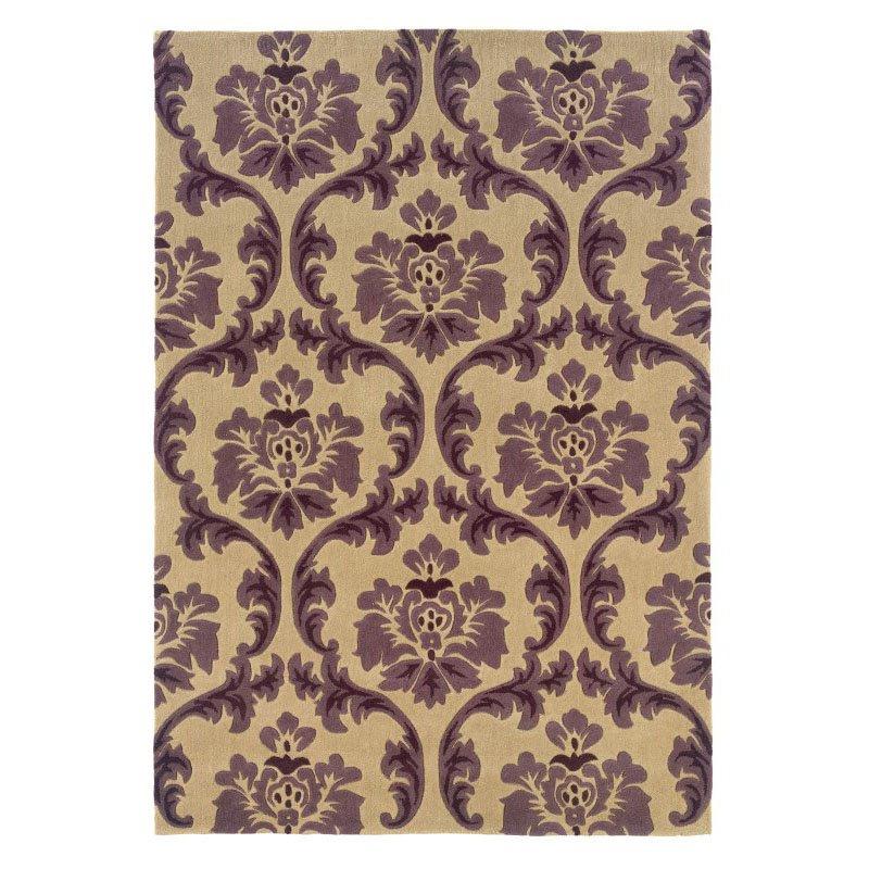 Linon Trio TARL05 Rug 8' x 10' Cream and Purple Rectangle