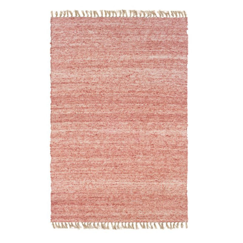 """Linon Verginia Berber VE214 Rug 3' 6"""" x 5' 6"""" Red and Natural Rectangle"""