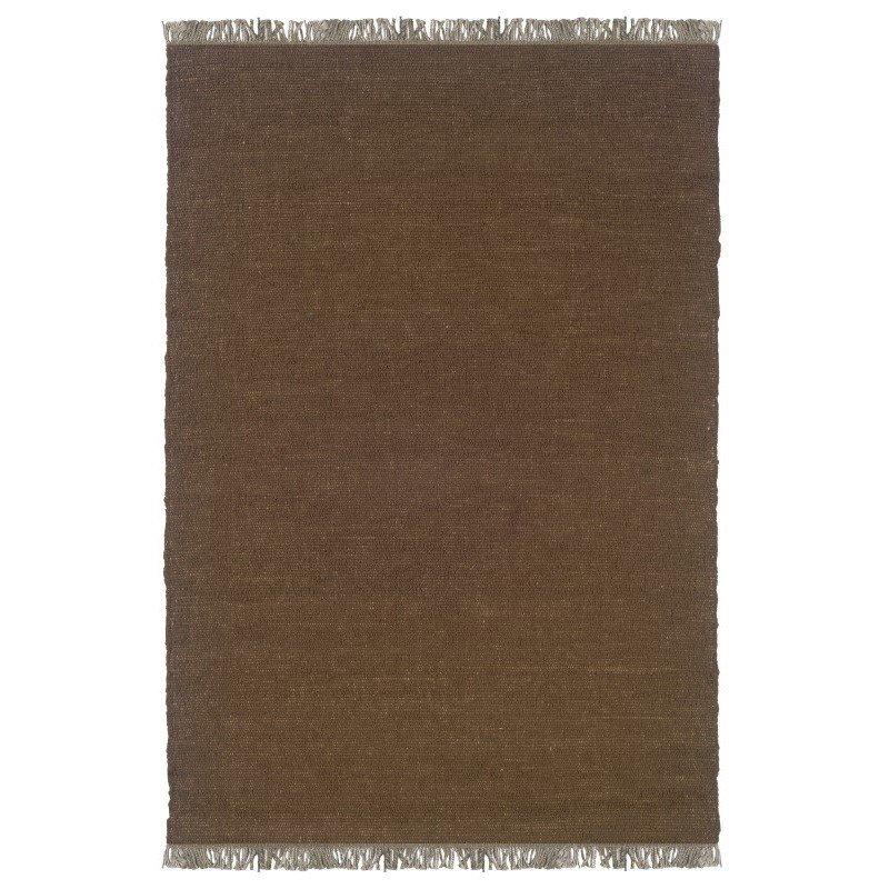 """Linon Verginia Berber VE501 Rug 5' 3"""" x 7' 6"""" Cocoa Rectangle"""