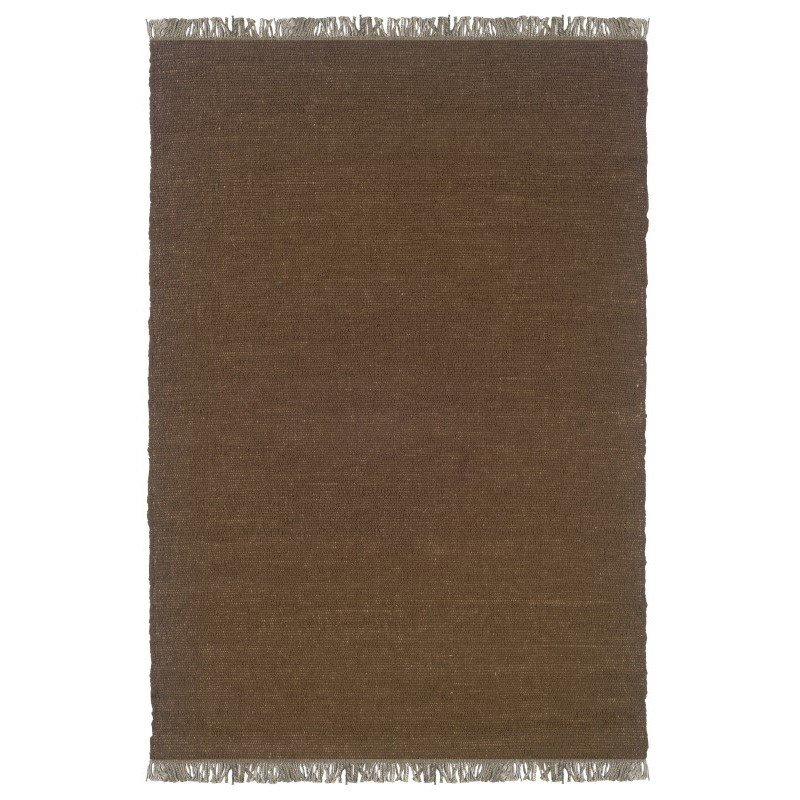 """Linon Verginia Berber VE501 Rug 7' 10"""" x 10' 4"""" Cocoa Rectangle"""