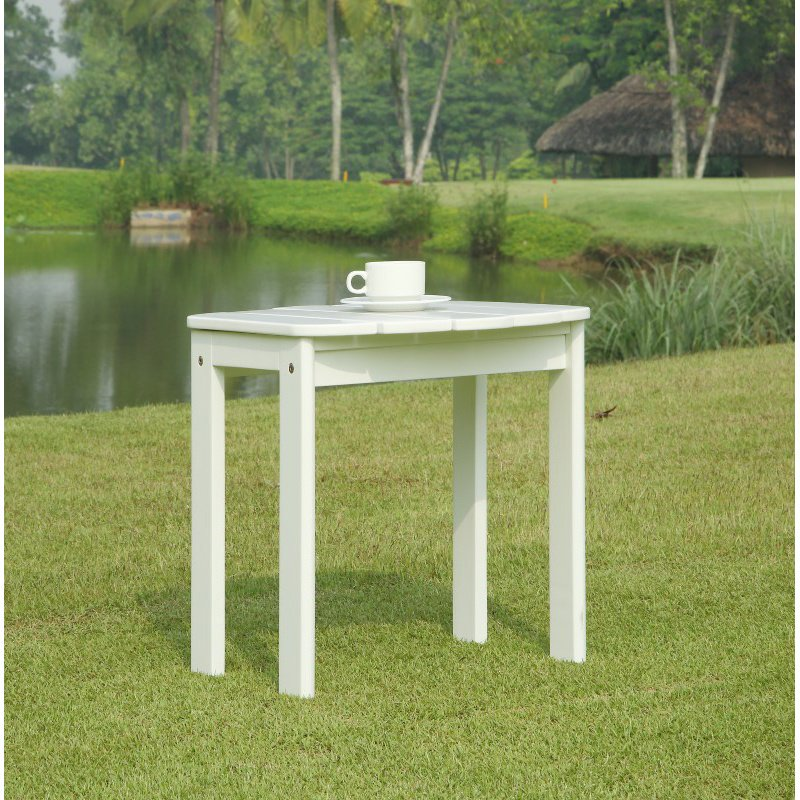Linon White Adirondack End Table