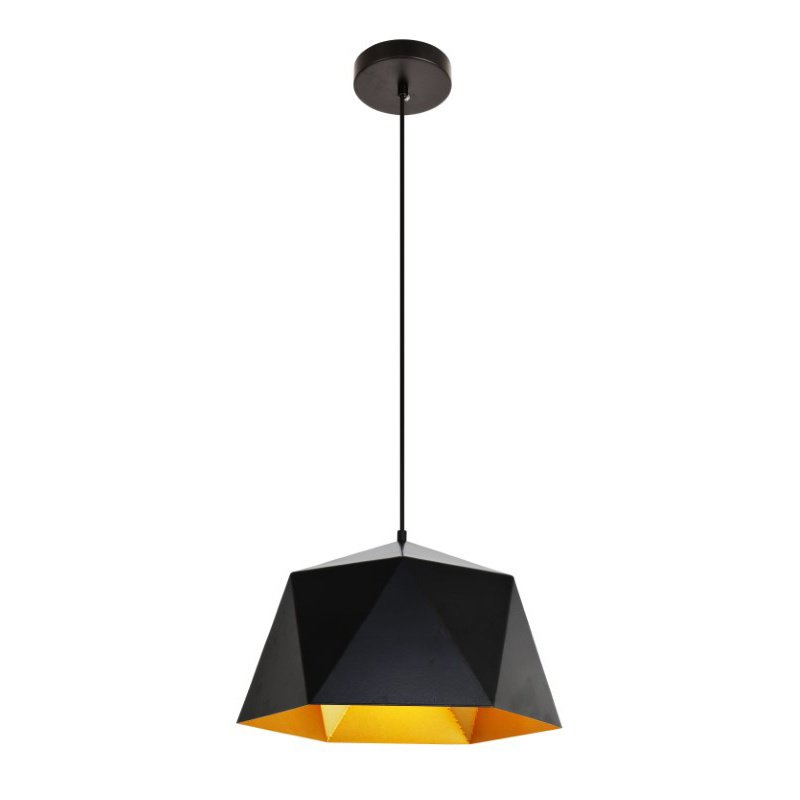 "Living District Arden Collection Pendant D15.0"" H9.6 Lt-1 Black and Gold Finish (LDPD2081)"