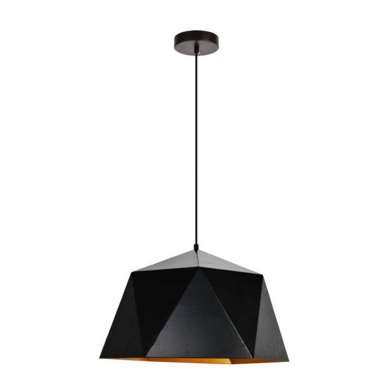 Living District Arden Collection Pendant D17.7 H11.4 Lt-1 Black and Gold Finish (LDPD2083)