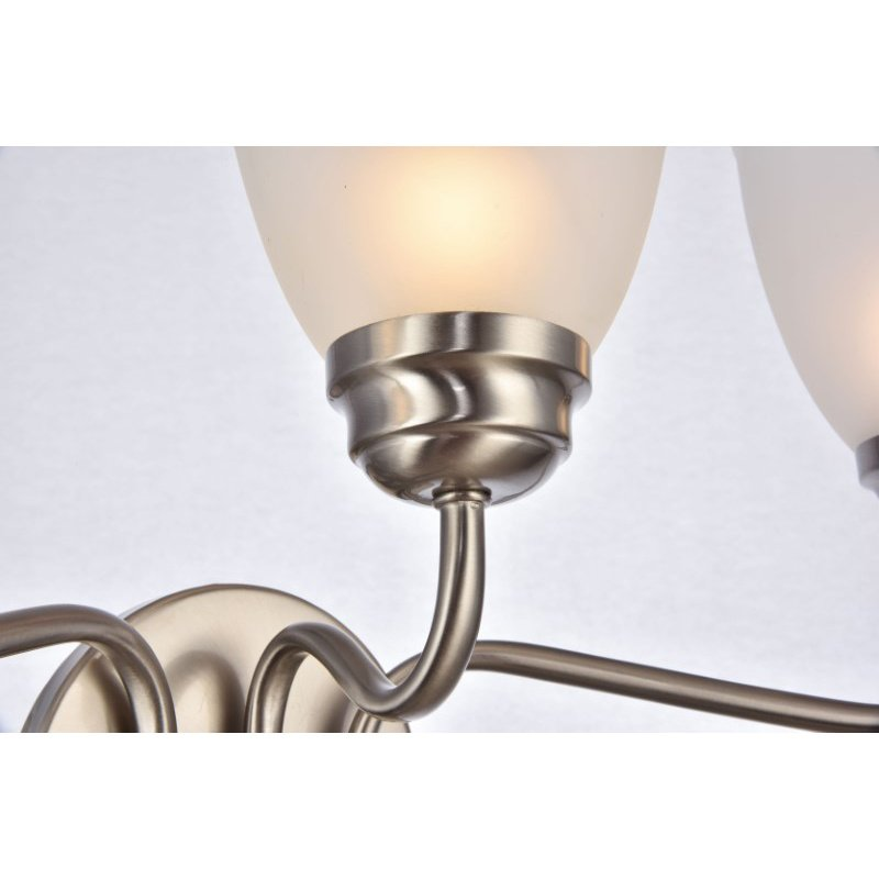 Living District Bale Collection Wall Sconce D22 H12.1 Lt-3 Brushed Nickel Finish (LD8001W22BN)