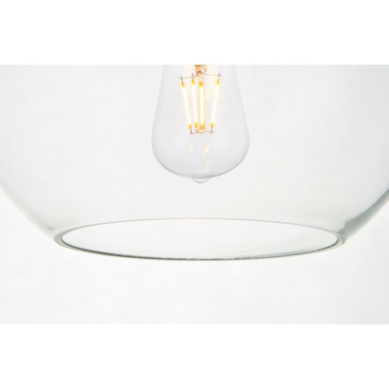 Living District Baxter 1 Light Brass Pendant with Clear Glass (LD2206BR)