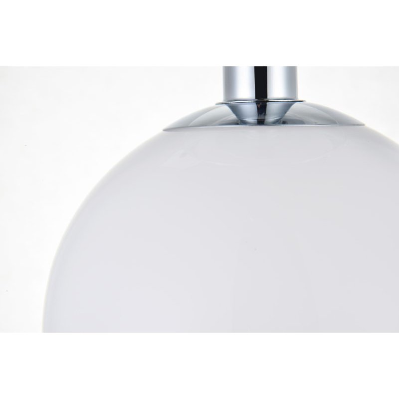 Living District Baxter 1 Light Chrome Flush Mount with Frosted White Glass (LD2205C)