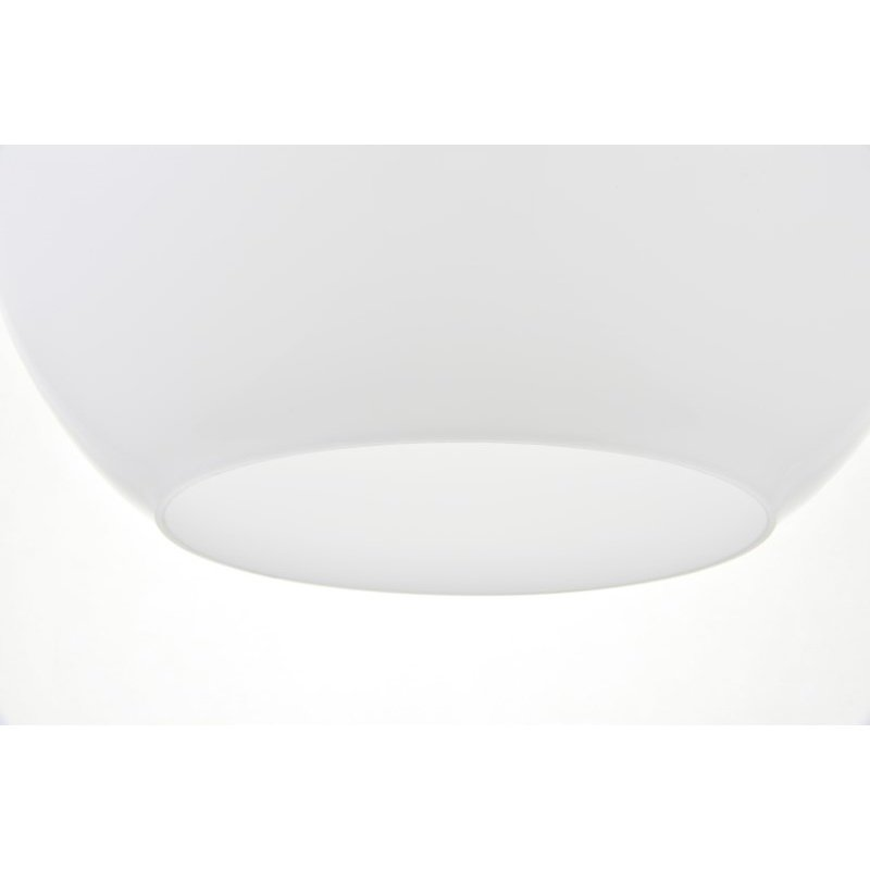 Living District Baxter 1 Light Chrome Pendant with Frosted White Glass (LD2213C)