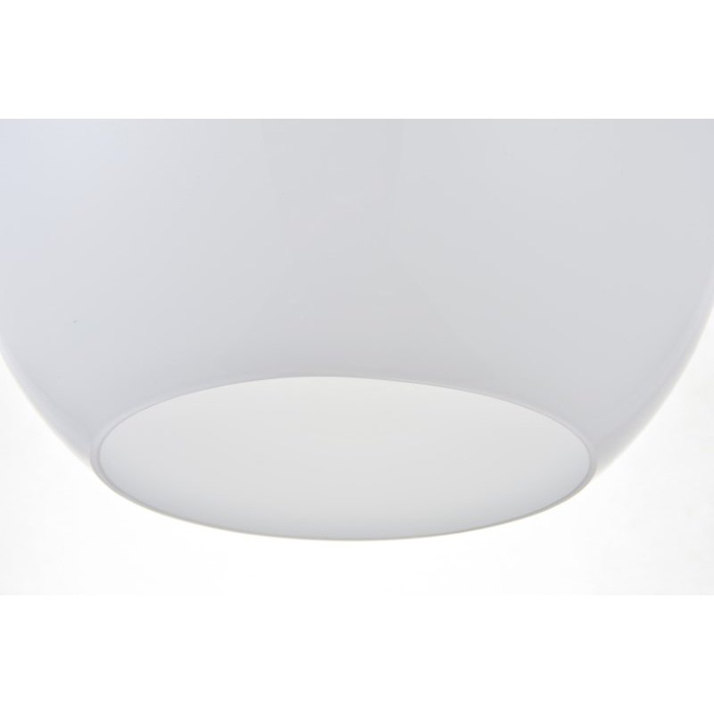 Living District Baxter 1 Light Chrome Pendant with Frosted White Glass (LD2225C)