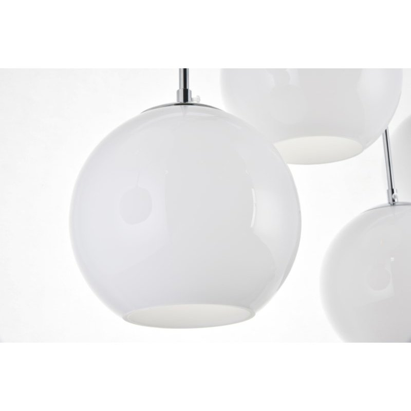 Living District Baxter 7 Lights Chrome Pendant with Frosted White Glass (LD2231C)