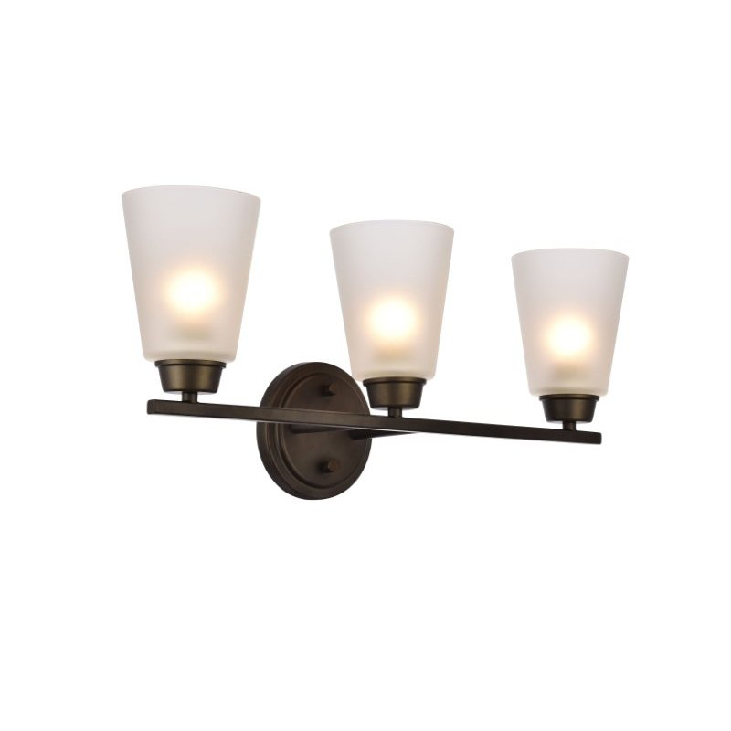 Living District Biff Collection Wall Sconce D22 H9.3 Lt-3 Oil rubbed bronze Finish (LD8002W22ORB)