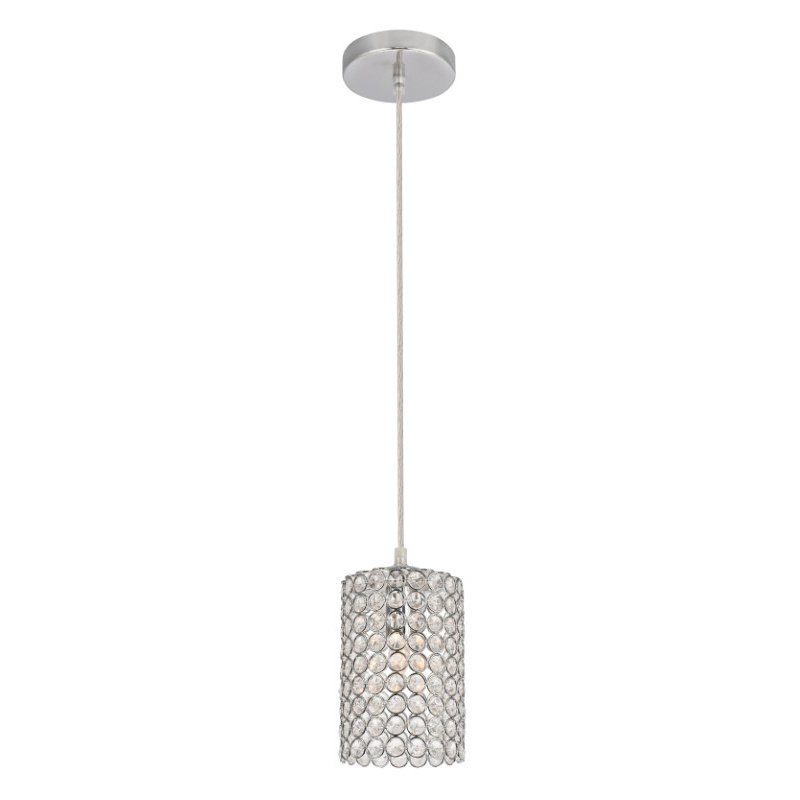 Living District Celestia Collection Pendant D4.7 H8.6 Lt-1 Chrome Finish (LDPD3008)