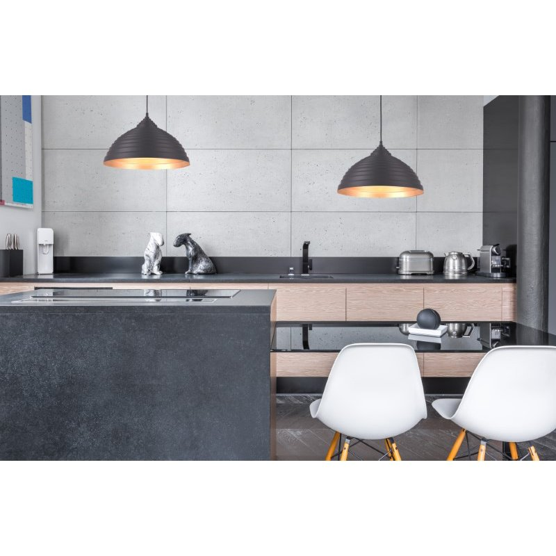 Living District Circa Collection Pendant D15.5in H9.5in Lt-1 Black Finish (LDPD2044)