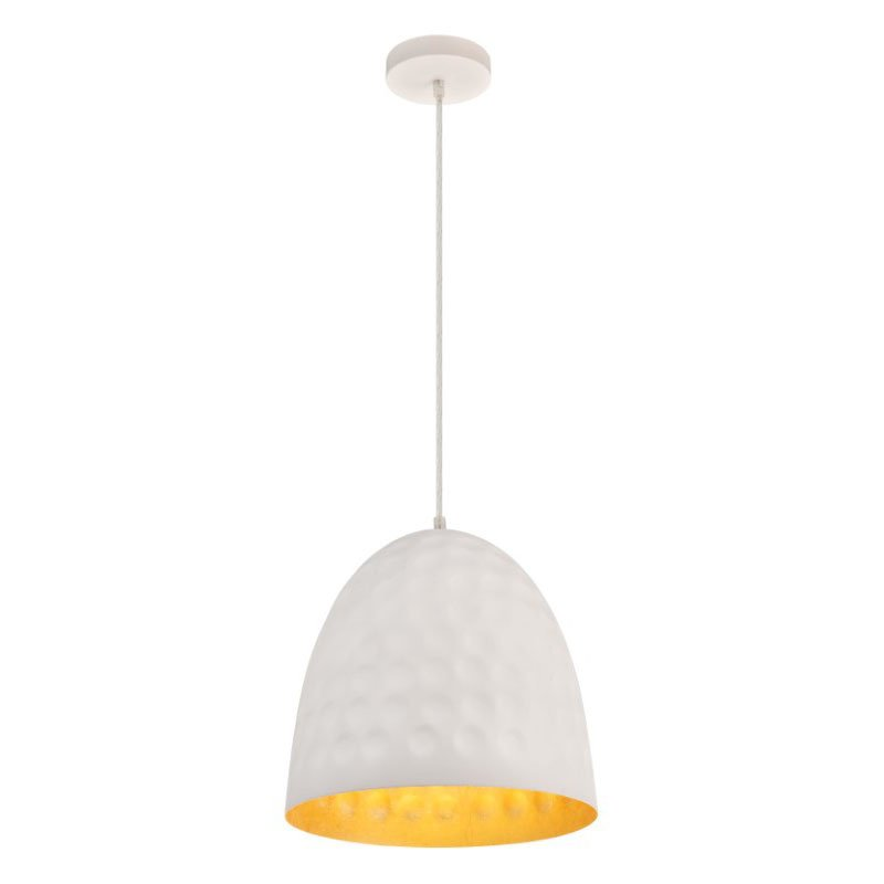 Living District Clio Collection Pendant D11.8 H12.8 Lt-1 Outside frosted white and Inside Gold Leaf Finish (LDPD3019)