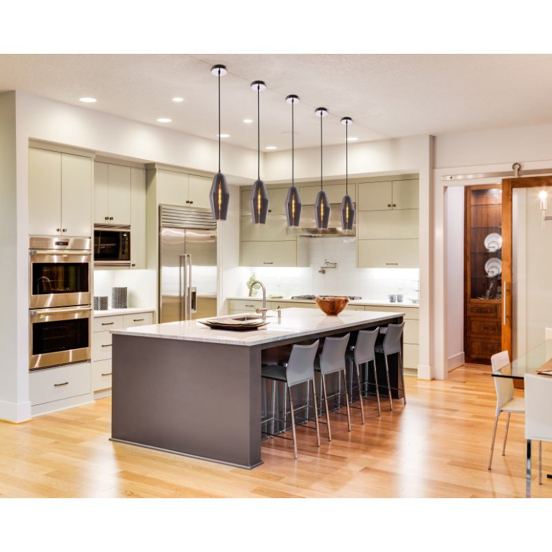 Living District Collins Collection Pendant D5.5in H14in Lt-1 Smoke Finish (LDPD2029)