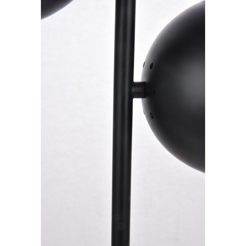 Living District Eclipse 2 Lights Black Table Lamp with Clear Glass (LD6153BK)