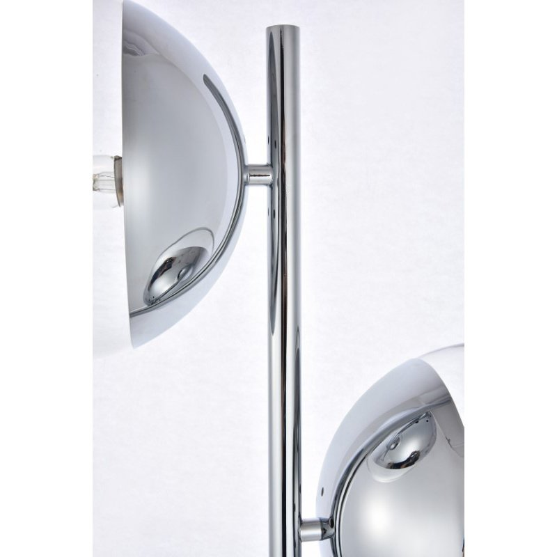 Living District Eclipse 2 Lights Chrome Floor Lamp with Clear Glass (LD6113C)