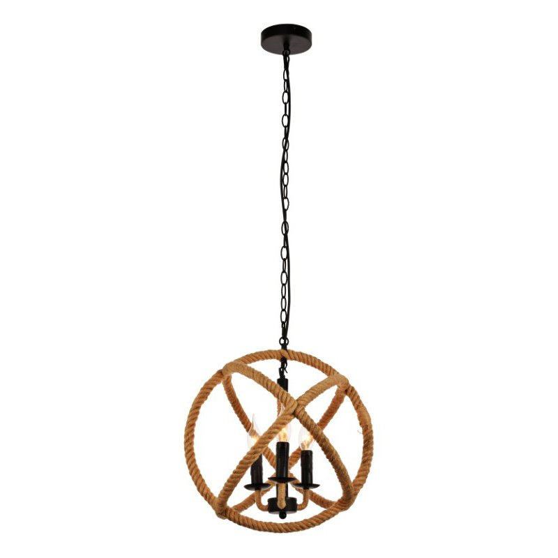Living District Gerrit Collection Pendant D15.7 H16.7 Lt-3 Black and Brown Finish (LDPD2109)
