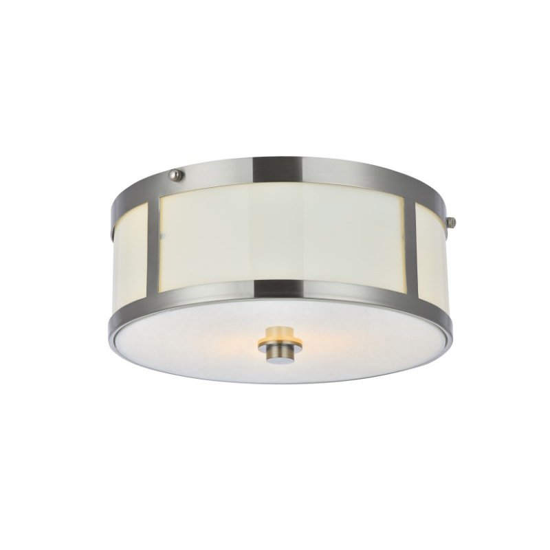 Living District Hadrian 2 Light 12 inch burnished Nickel flush mount (LD6018)